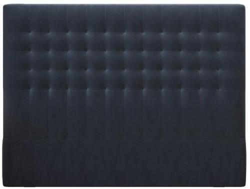 Tmavomodré čelo postele so zamatovým poťahom Windsor & Co Sofas Apollo, 200×120 cm
