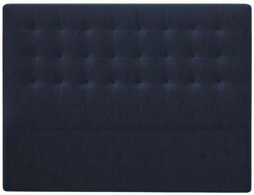 Tmavomodré čelo postele so zamatovým poťahom Windsor & Co Sofas Athena, 140×120 cm
