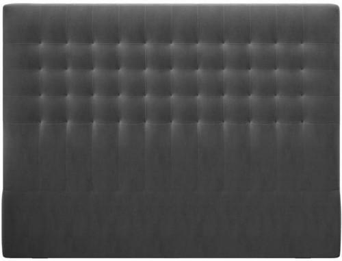Tmavosivé čelo postele so zamatovým poťahom Windsor & Co Sofas Apollo, 140×120 cm