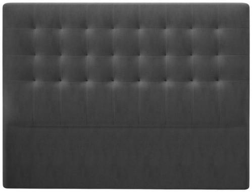 Tmavosivé čelo postele so zamatovým poťahom Windsor & Co Sofas Athena, 140×120 cm
