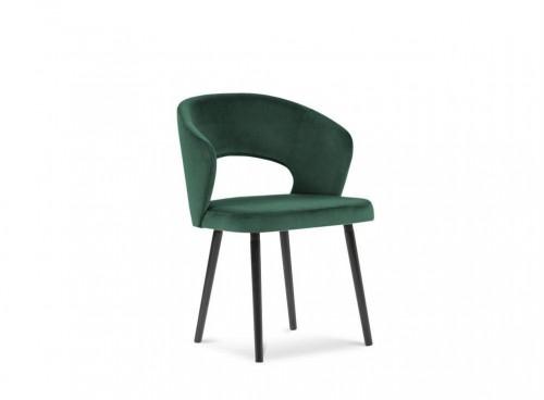 Tmavozelená jedálenská stolička so zamatovým poťahom Windsor & Co Sofas Elpis