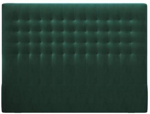 Tmavozelené čelo postele so zamatovým poťahom Windsor & Co Sofas Apollo, 140×120 cm