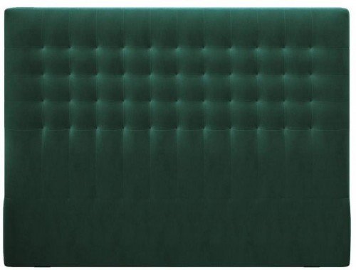 Tmavozelené čelo postele so zamatovým poťahom Windsor & Co Sofas Apollo, 180×120 cm