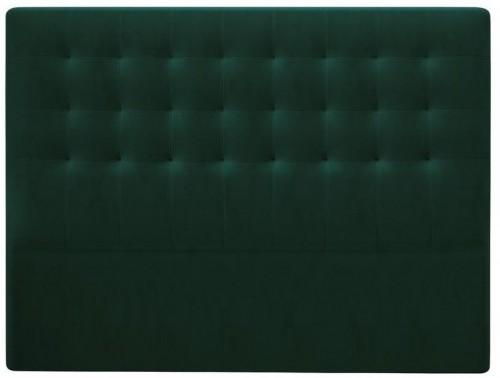 Tmavozelené čelo postele so zamatovým poťahom Windsor & Co Sofas Athena, 200×120 cm
