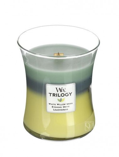 WoodWick Vonná sviečka Trilogy Woodland Shade 275 g