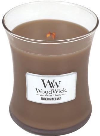 WoodWick Vonná sviečka váza Amber & Incense 275 g