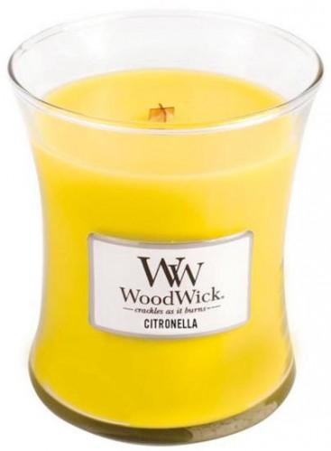 WoodWick Vonná sviečka váza Citronella 275 g