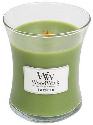 WoodWick Vonná sviečka váza Evergreen 275 g