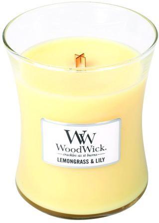 WoodWick Vonná sviečka váza Lemongrass & Lily 275 g