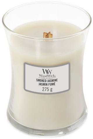 WoodWick Vonná sviečka váza Smoked Jasmine 275 g