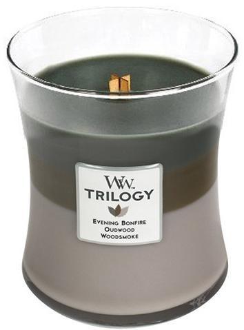 WoodWick Vonná sviečka váza strednej Trilogy Cozy Cabin 275 g