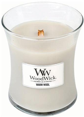 WoodWick Vonná sviečka váza Warm Wool 275 g