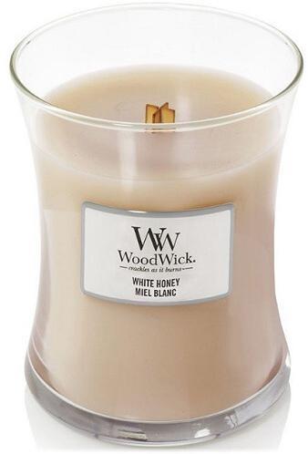 WoodWick Vonná sviečka váza White Honey 275 g