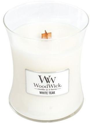 WoodWick Vonná sviečka váza White Teak 275 g