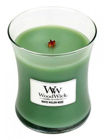 WoodWick Vonná sviečka váza White Willow Moss 275 g