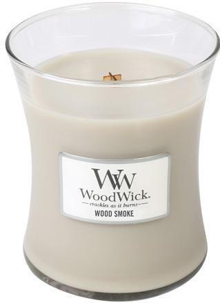 WoodWick Vonná sviečka váza Wood Smoke 275 g