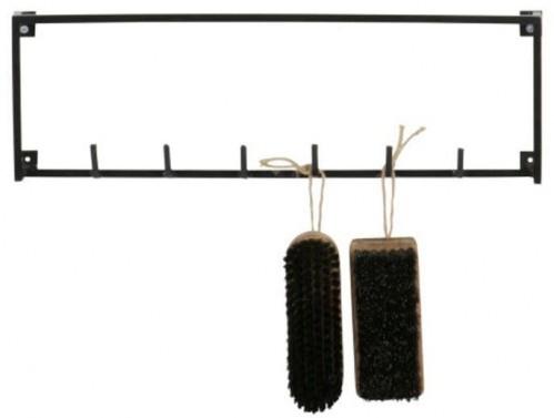 Čierny vešiak so 6 háčikmi WOOOD Meert