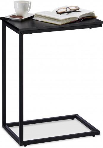 Bočný stolík čierny kovový, rd3144