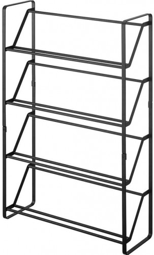 Čierny stojan na topánky so 4 poschodiami YAMAZAKI Frame