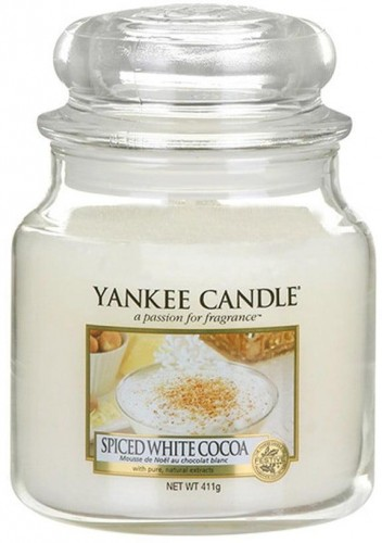 Vonná sviečka Yankee Candle Biele Kakao s Korením, doba horenia 65 - 90 hodín