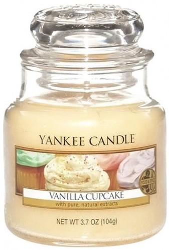 Vonná sviečka Yankee Candle Vanilkový Košíček, doba horenia 25 - 40 hodín