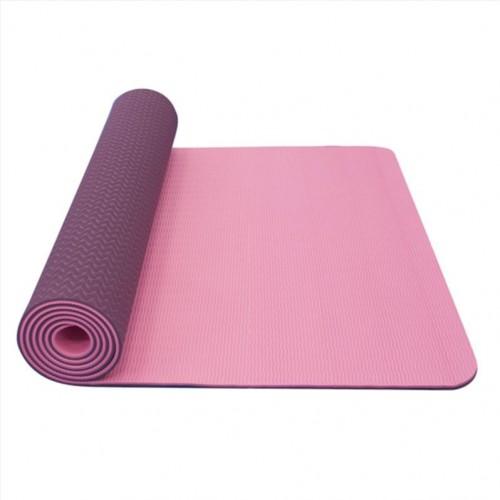 Podložka na jógu YATE yoga mat dvojvrstvová / ružová / fialová / materiál TPE