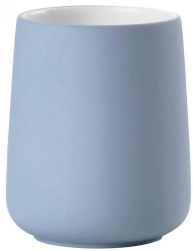 Modrý porcelánový pohárik na zubnú kefku Zone Blue Fog