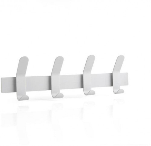 Sivý oceľový vešiak na stenu Zone A-Rack Soft Grey