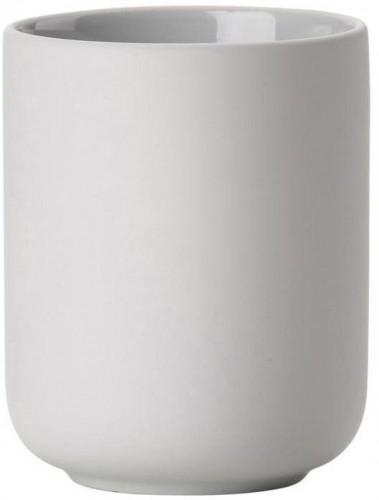Svetlosivý pohárik na zubnú kefku z kameniny Zone Soft Grey