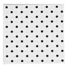 BASIC NAPKINS: Paper napkins white with black dots