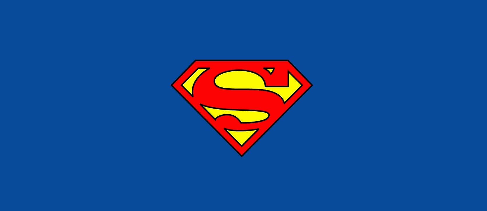 A picture of the superman logo on a blue background.