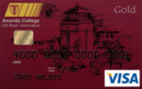 Ananda College Old Boys Association Visa Gold Credit Card