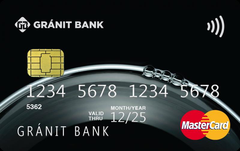 Gránit Bank MasterCard Standard PayPass (dombornyomott)