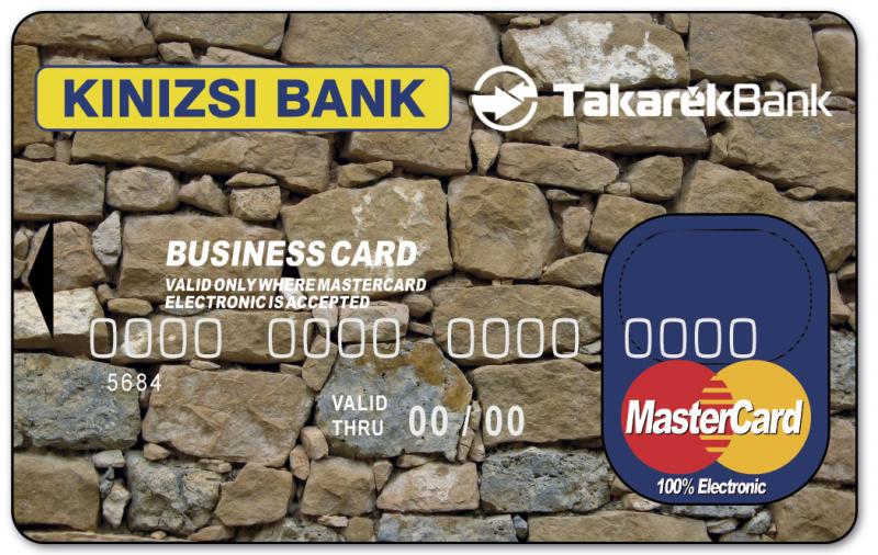 Kinizsi Bank MasterCard Electronic Business (nem dombornyomott)