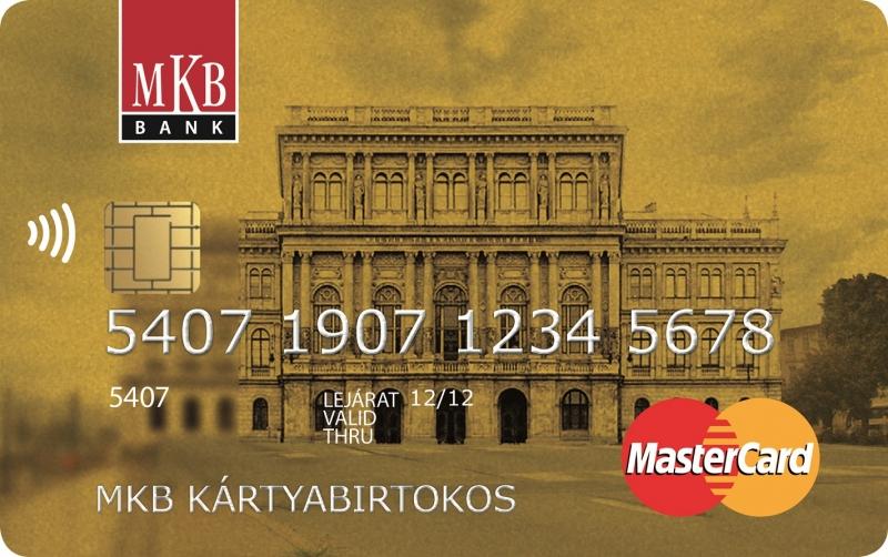 MKB MasterCard Gold PayPass (dombornyomott)