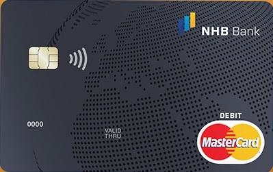 MasterCard elektronikus bankkártya (nem dombornyomott)