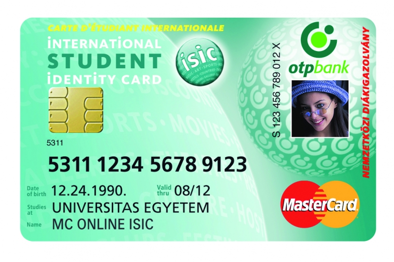 OTP MasterCard Online ISIC Junior (nem dombornyomott)