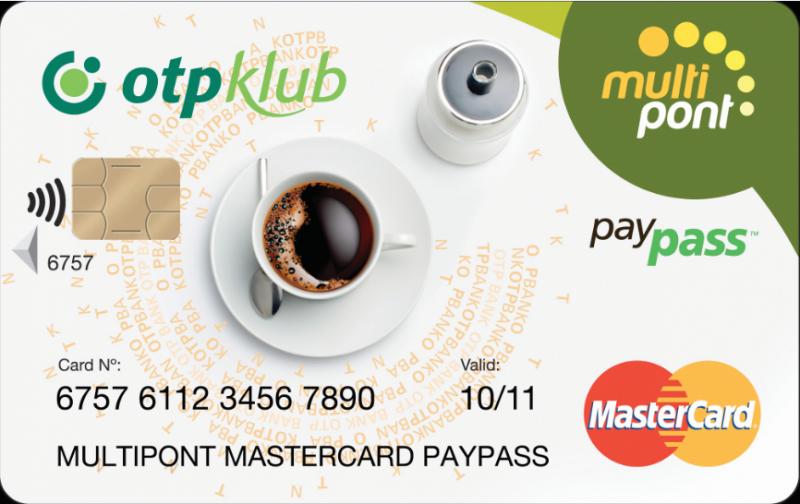 OTP Multipont MasterCard Prémium kártya (dombornyomott)