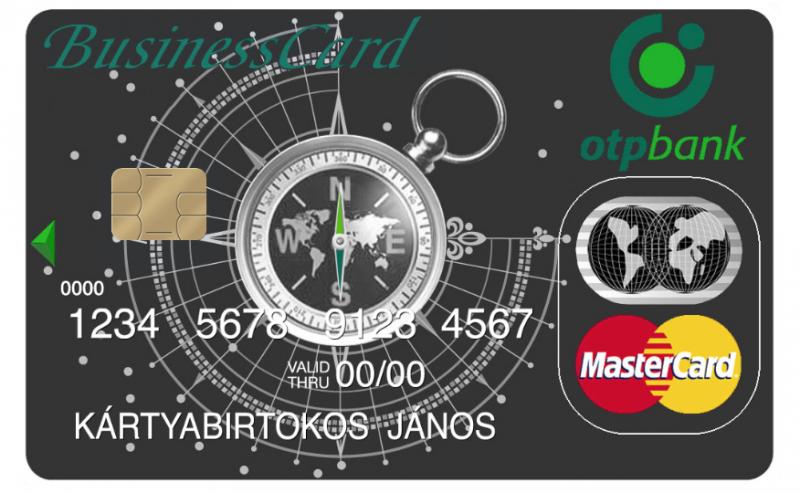 OTP MasterCard Unembossed Üzleti kártya (nem dombornyomott)