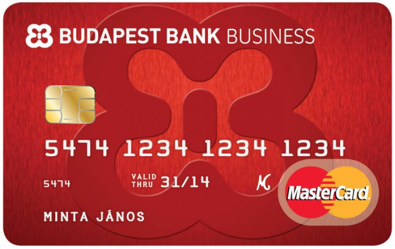 Budapest Bank Üzleti Bankkártya (dombornyomott)