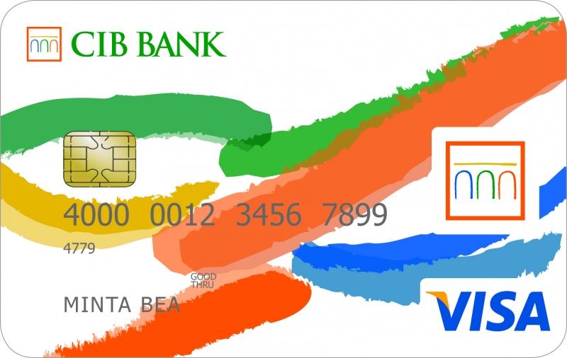 CIB VISA Inspire Elektronikus Bankkártya (nem dombornyomott)