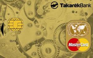 TakarékPont MasterCard Gold (dombornyomott)