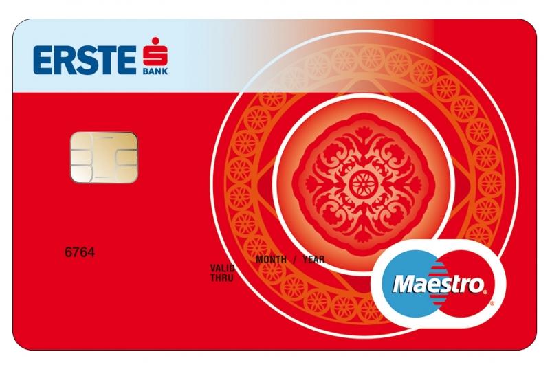 Erste Bank Maestro Diák kártya (nem dombornyomott)