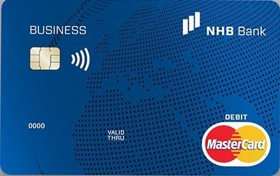 NHB Bank MasterCard Business Üzleti Bankkártya (dombornyomott)
