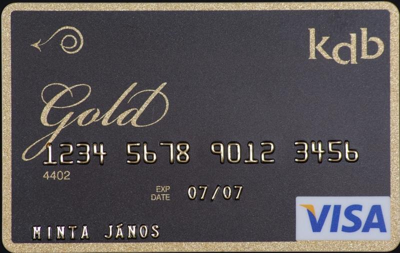 KDB Bank VISA Gold (dombornyomott)