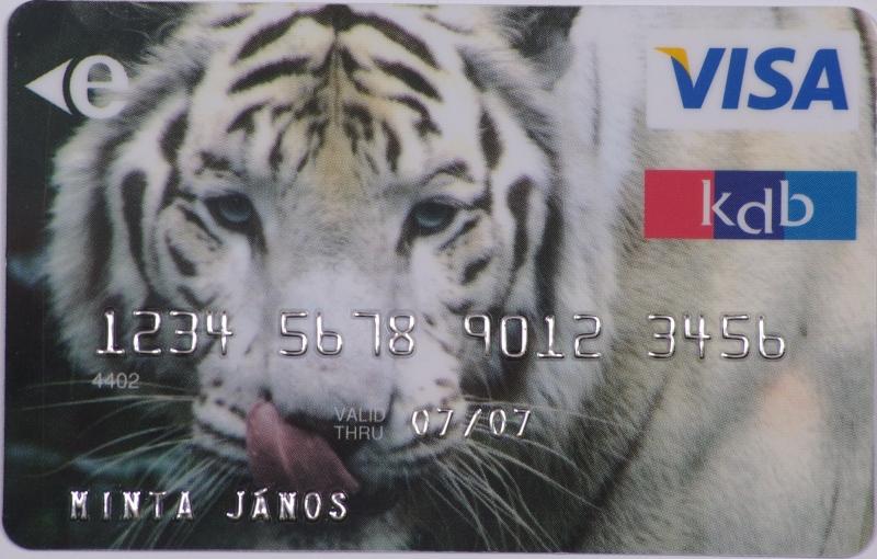 KDB Bank VISA Classic (dombornyomott)