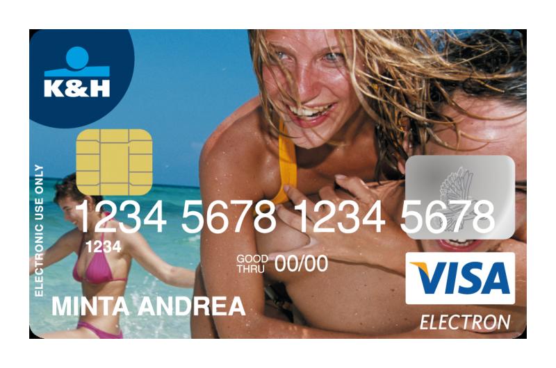 K&H Bank VISA Electron betéti érintőkártya (nem dombornyomott)