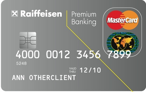Raiffeisen Premium Start OKOSkártya (dombornyomott)