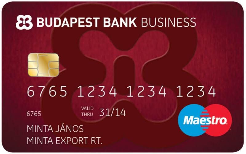 Budapest Bank Kisvállalkozói Business Maestro (nem dombornyomott)