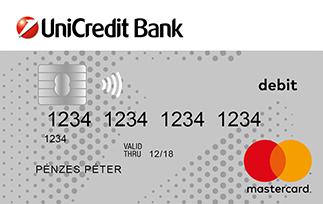UniCredit MasterCard Standard bankkártya (dombornyomott)